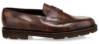John Lobb Lopez Chunky Leather Penny Loafers