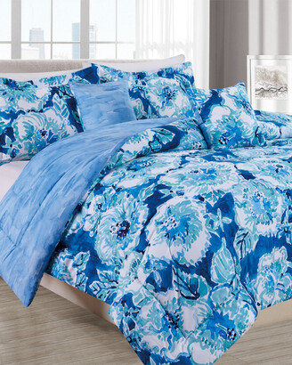Melange Home Barbarian Hibiscus Bounty 5Pc Comforter Set