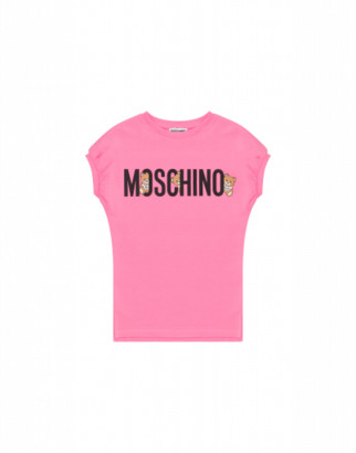 Moschino Teddy Logo Dress Woman Pink Size 4a It - (4y Us)