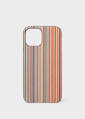 Paul Smith 'Signature Stripe' Print iPhone 12 Pro Case