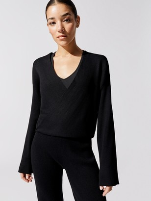 Carbon38 Sweater Rib Crossover Top