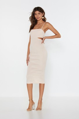 Nasty Gal Womens Back in the Game Cut-Out Midi Dress - Peach