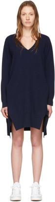 Stella McCartney Navy Cashmere V-Neck Sweater Dress