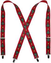 CTM® Elastic Christmas Tree Holiday Clip End Suspenders