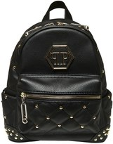 Philipp Plein Junior Studded Quilted Faux Leather Backpack