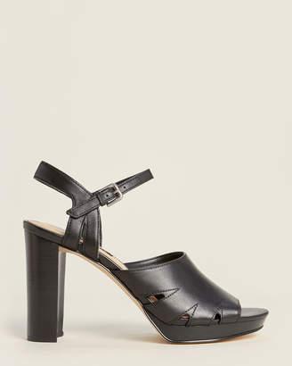 Nine West Black Delilah Leather Sandals