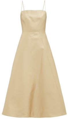 Gabriela Hearst Meghan Square-neck Wool-blend Midi Dress - Ivory