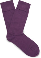 John Smedley - Ribbed Cotton-blend Socks