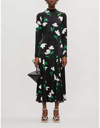Ghost Gabrielle floral-print satin-crepe midi dress