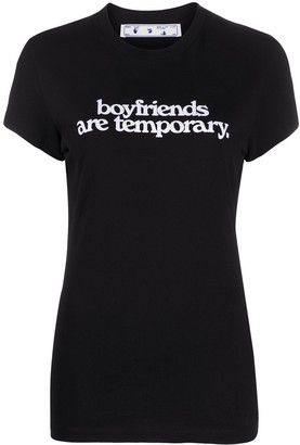 Off-White Boyfriends print T-shirt