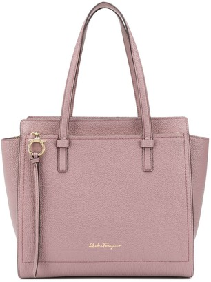Salvatore Ferragamo Logo Stamp Tote Bag