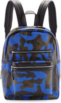 Ash Danica Large Leather Backpack, Blue Camo
