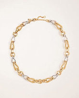 Ann Taylor Mixed Metallic Chain Necklace