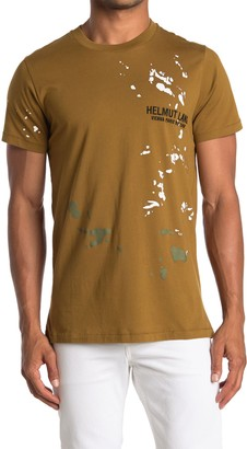 Helmut Lang Standard Paint Splatter Logo T-Shirt