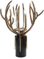 "John-Richard Collection 24"" Organic Antler Pillar Holder - Brass/Black"