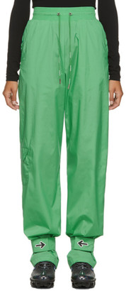 Off-White Green Nylon Lounge Pants