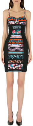 Jean Paul Gaultier Soleil Multicolor Printed Bustier Bodycon Dress XS