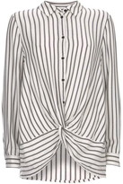 Mint Velvet Twist Front Stripe Shirt