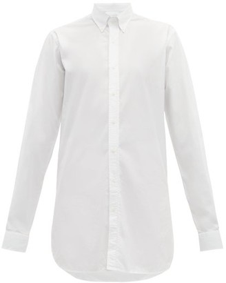 Raey Long-line Cotton Shirt - White
