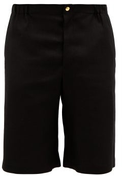 Gucci Orgasmique-embroidered Woven Shorts - Black