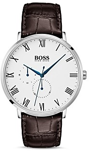 HUGO BOSS Hugo by William Brown Croc-Embossed Leather Watch, 40mm