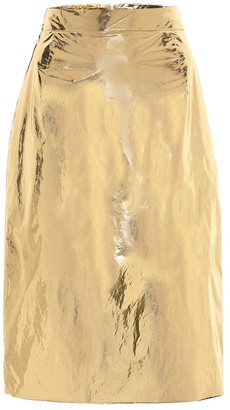 N°21 Foiled metallic skirt
