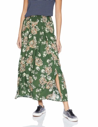 Angie Women's Faux Wrap Maxi Skirt with Smocked Waist