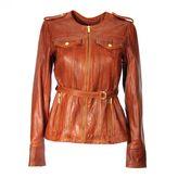MICHAEL Michael Kors Cognac Leather Jacket