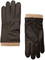 Mango Leather Wool-blend Gloves
