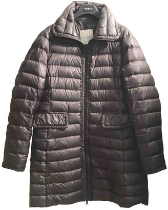 Moncler Long Anthracite Polyester Coats