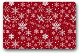 "Holiday door mats Elegant Pattern Christmas Characters Crimson Snowflake Bell Rectangle Entryways Non Slip Doormat Floor Mat, Merry Xmas Christmas Eve, Great Decoration for Christmas - 23.6""(L) x 15.7""(W), 3/16"" Thickness"