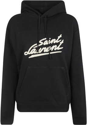 Saint Laurent Logo Print Hoodie