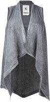 Lost & Found Rooms - asymmetric hem waistcoat - women - Linen/Flax - XXS