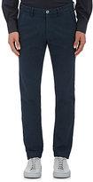 Mason Men's Piqué Cotton-Blend Trousers-NAVY