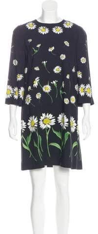 Dolce & Gabbana 2016 Daisy Print Dress w/ Tags