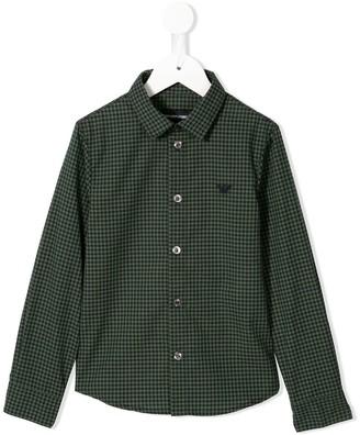 Emporio Armani Kids Gingham Check Shirt