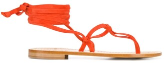 P.A.R.O.S.H. Lace-Up Thong Sandals