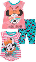 Children's Apparel Network Minnie Mouse Pink Three-Piece Tee & Pant Set - Infant