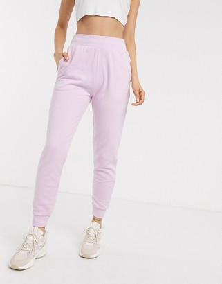Reebok Vector logo sweatpants in lilac