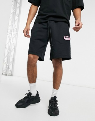 Puma x Von Dutch logo shorts in black