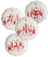 Juliska Reindeer Plate, Set of 4