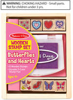 Melissa & Doug Butterflies and Hearts Wooden Stamp Set