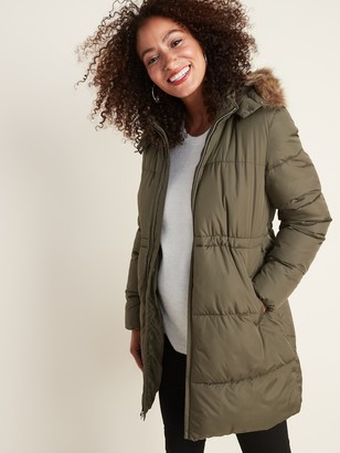 Old Navy Maternity Hooded Frost-Free Long-Line Puffer Jacket