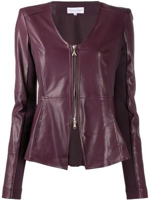 Patrizia Pepe Peplum Faux Leather Jacket