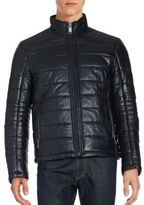 Saks Fifth Avenue Leather Puffer Jacket