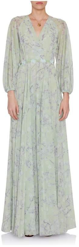 Luisa Beccaria Printed Georgette Dress
