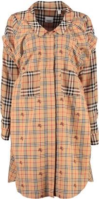 Burberry Checked Cotton Shirtdress