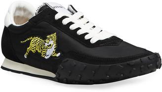 Kenzo Men's Move Suede & Nylon Low-Top Sneakers