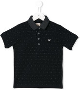 Armani Junior polka dot polo shirt - kids - Cotton - 12 yrs