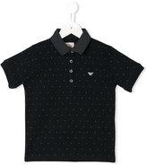 Armani Junior polka dot polo shirt - kids - Cotton - 8 yrs